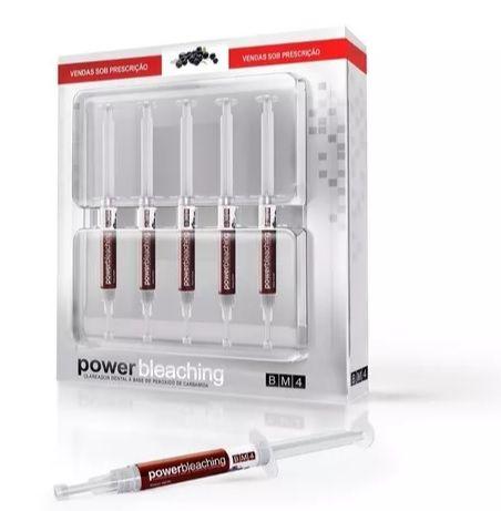 Clareador Dental Power Bleaching 22% BM4 - 5 Seringas - Sabor Açaí