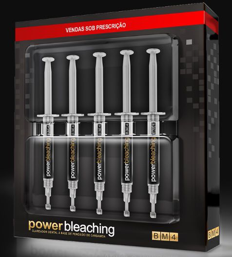 Clareador Dental Power Bleaching 22% BM4 -  Kit com 5 Seringas