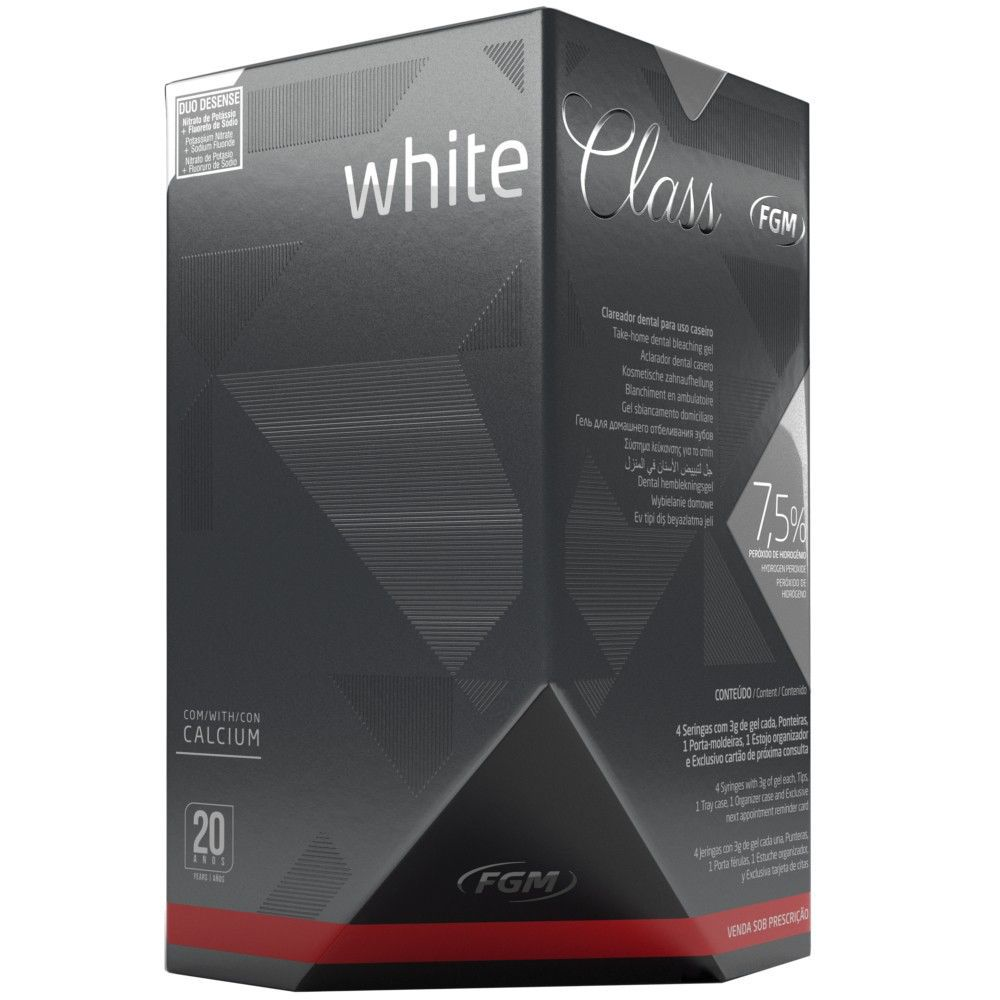 Clareador Dental White Class 7,5% FGM - Kit com 4 unidades