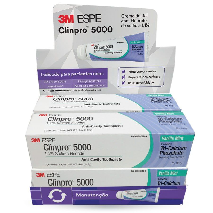 Creme Dental Clinpro 5000 3M - 4 unidades