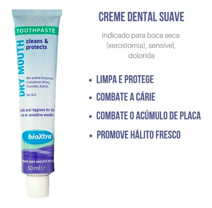 Creme Dental Dry Mouth Bioxtra - 50ml