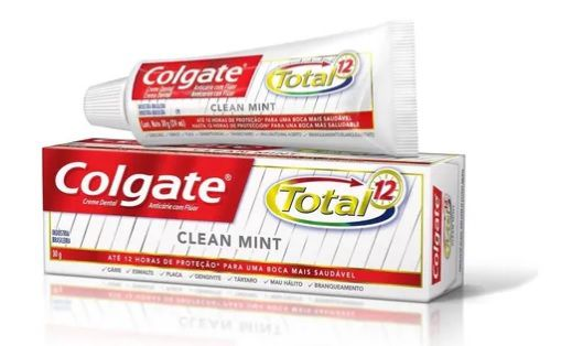Creme dental Total 12 Clean Mint 30g Colgate  - 20 unidades