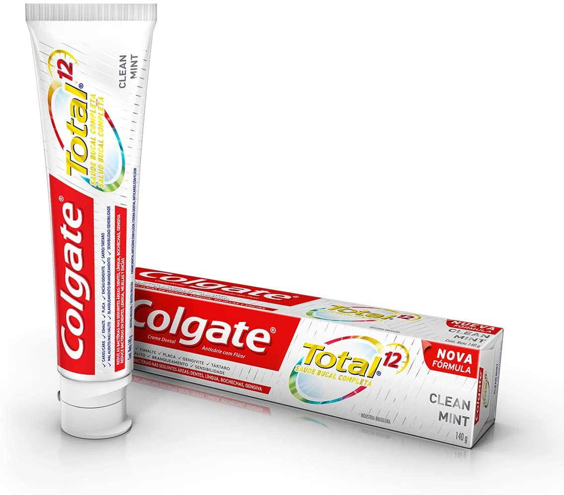Creme Dental  Total 12 Clean Mint 90g Colgate - 10 unidades