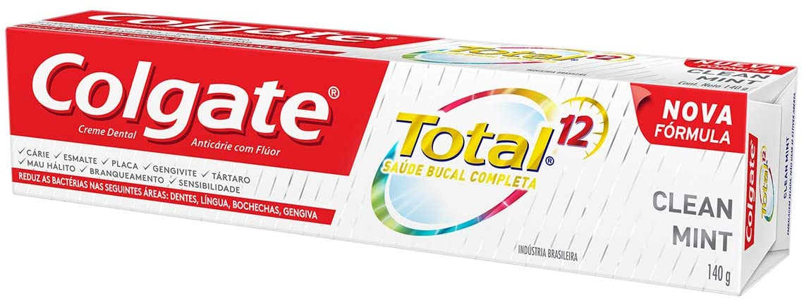 Creme Dental  Total 12 Clean Mint Colgate - 90g