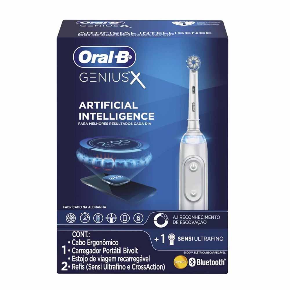 Escova de Dente Elétrica Recarregável Oral-B Genius X - Bivolt