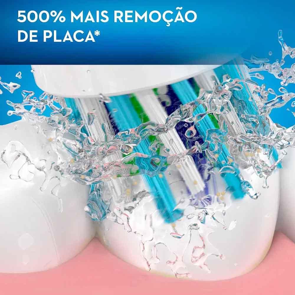 Escova de Dente Elétrica Recarregável Oral-B Pro 2000 2 Refis - 220V