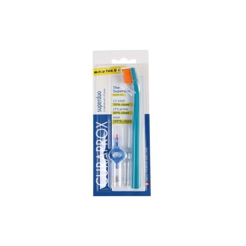 Escova Dental Adulto Super Duo + Interdental  Curaprox - 4 unidades