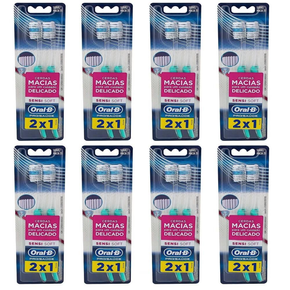 Escova Dental Indicator Sensi Soft Oral-B - 16 unidades