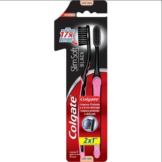Escova Dental Slim Soft Black - Colgate