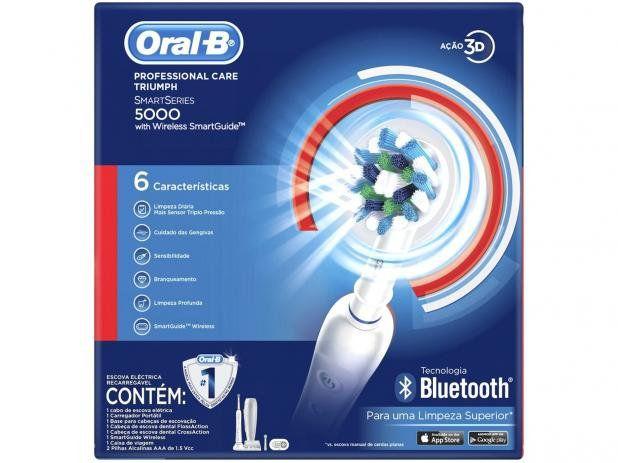 Escova Elétrica Professional Care 5000 Bluetooth 220V - Oral-B