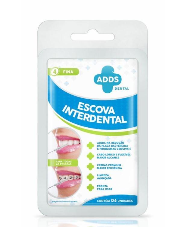 Escova Interdental Fina ADDS Dental - 6 unidades