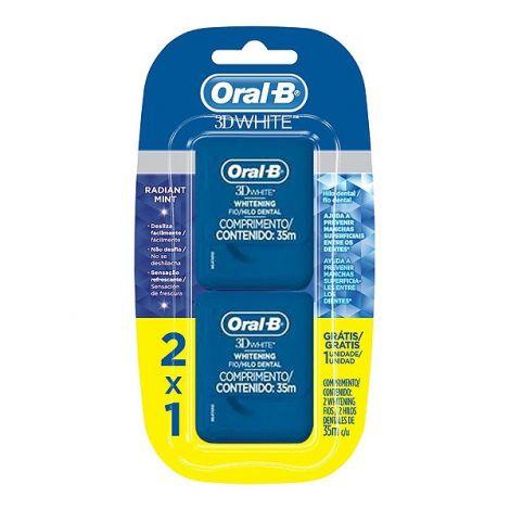 Fio Dental  3D White Floss 35M Oral-B -  10 unidades
