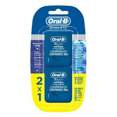 Fio Dental  3D White Floss 35M Oral-B -  2 unidades