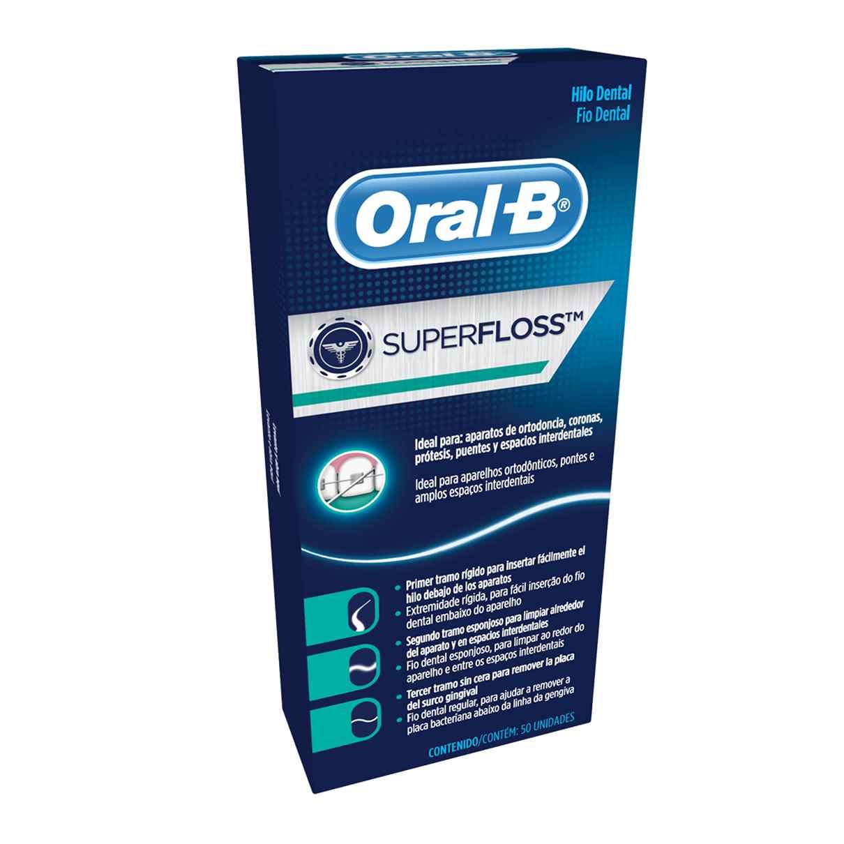 Fio Dental Super Floss Oral-B - 600 tiras