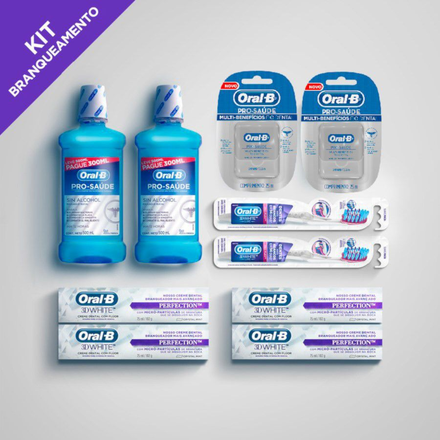 Kit Branqueamento Pró Saúde 2 - Oral-B