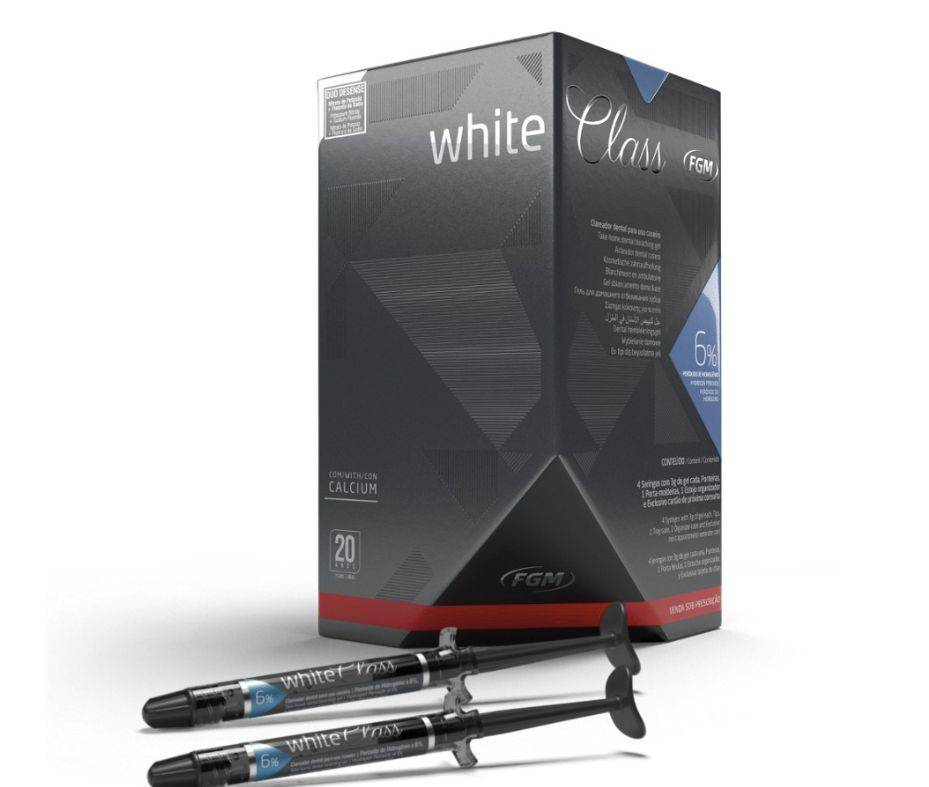 Clareador Dental  White Class 6% FGM - Kit com 4 unidades