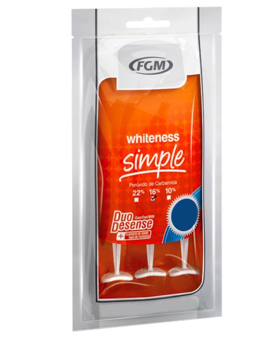 Clareador Dental White Simple 16% FGM - 3 unidades