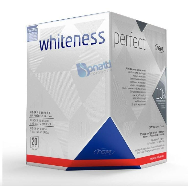 Kit Clareador Dental Whiteness Perfect 10% - FGM