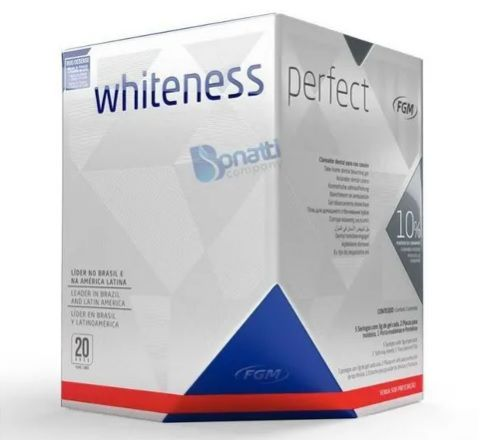 Kit Clareador Dental Whiteness Perfect 10% - FGM + Par de Moldeira