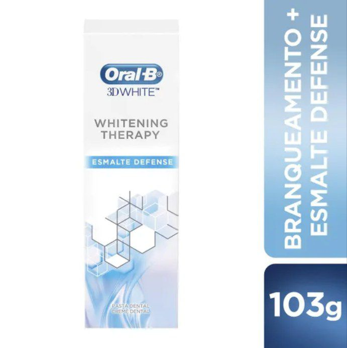 Creme Dental 3D Whitening Esmalte Defense Oral-B - 8 unidades