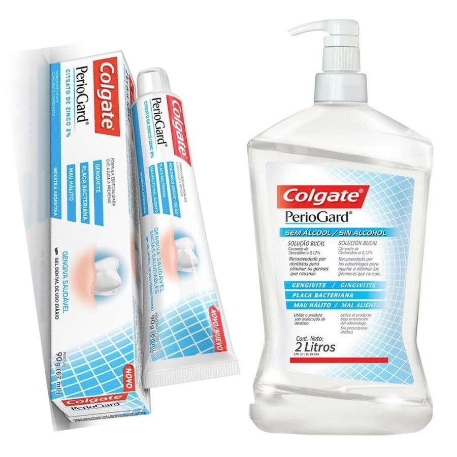 PerioGard Enxaguante Bucal 2 Lts + Creme Dental PerioGard 90g - Colgate