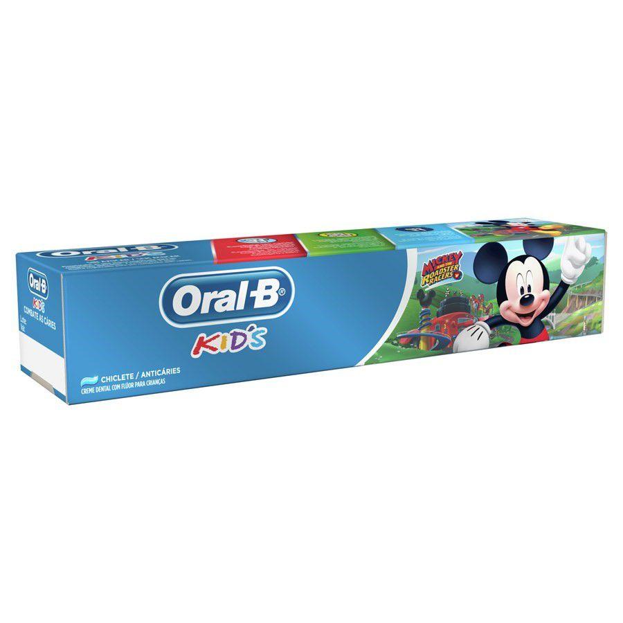 Creme Dental Kids Mickey Oral-B - 4 unidades