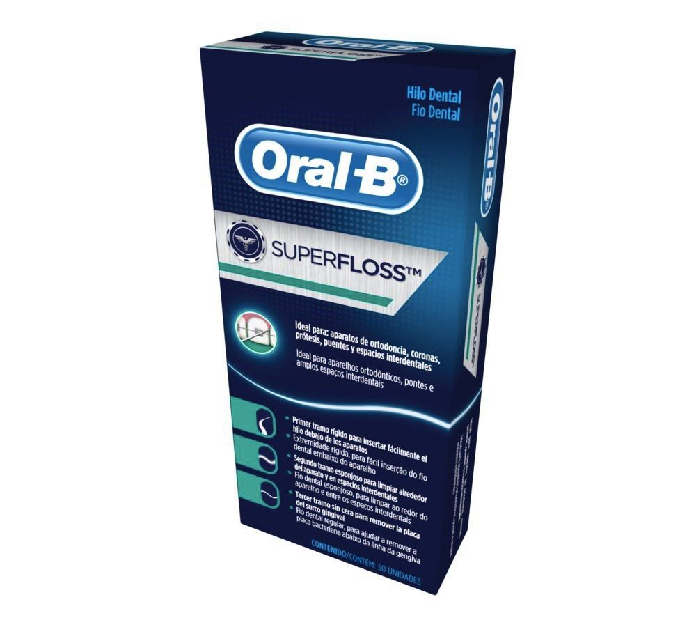 Fio Dental Super Floss Oral-B - 750 tiras