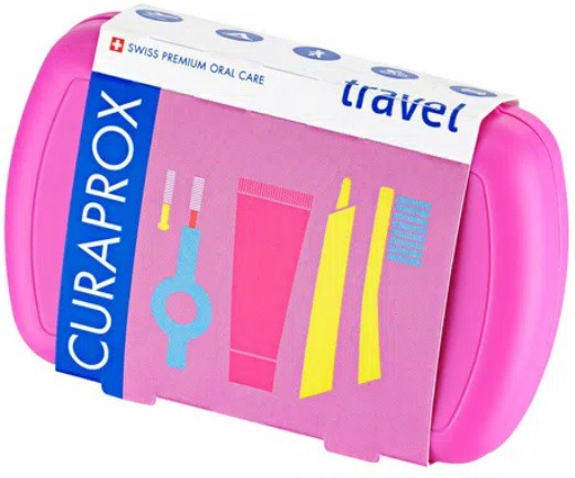 Kit Para Viagem Travel Set CS5460 Ultrasoft  Curaprox - Cores e Sabores Sortidos