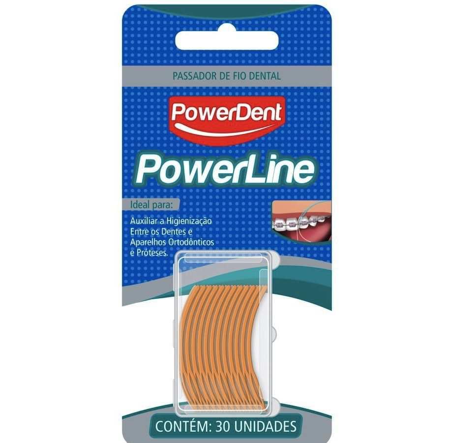 Passa Fio Dental Powerline Powerdent - 300 unidades