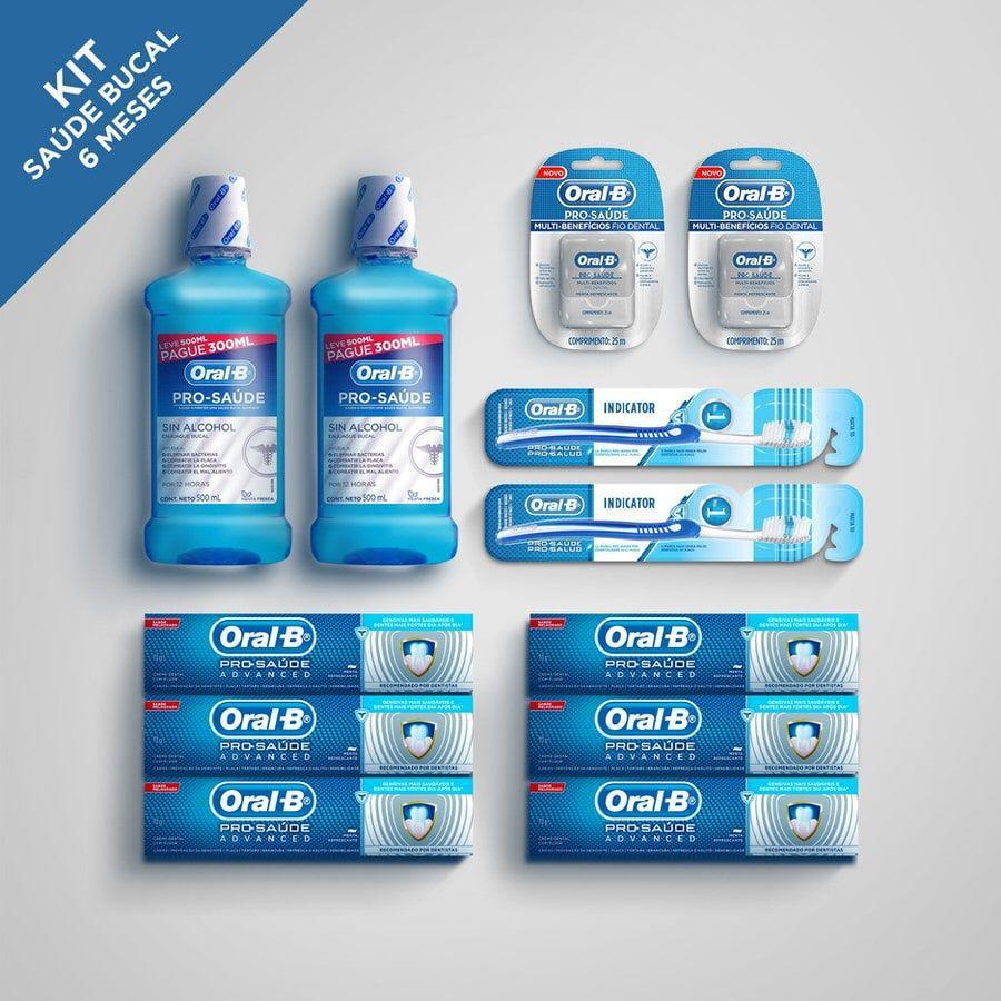 Kit Saúde Bucal 6 Meses Pró Saúde - Oral-B