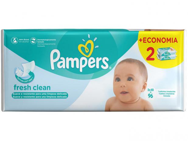Toalhinhas Umedecidas Fresh Clean Pampers  - 96 toalhinhas