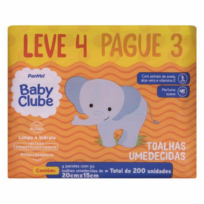 Lenços Umedecidos Panvel Baby Clube - 200 toalhinhas