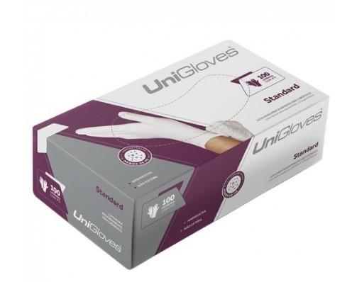 Luva Unigloves Látex Standard Branca Tamanho G - 100 unidades