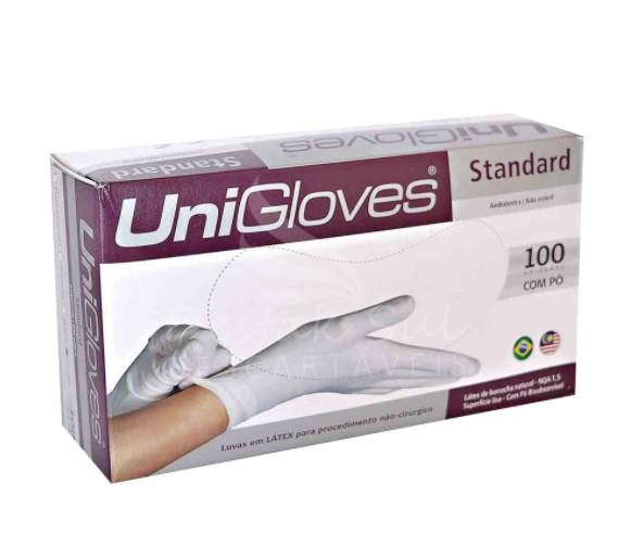 Luva Unigloves Látex Standart G Branca com 1000 Unidades