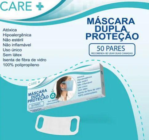 Máscara Care+ Dupla Proteção - 50 pares