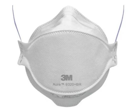 Máscara Pff2 Aura 9320 BR Respirador Descartável - 3M