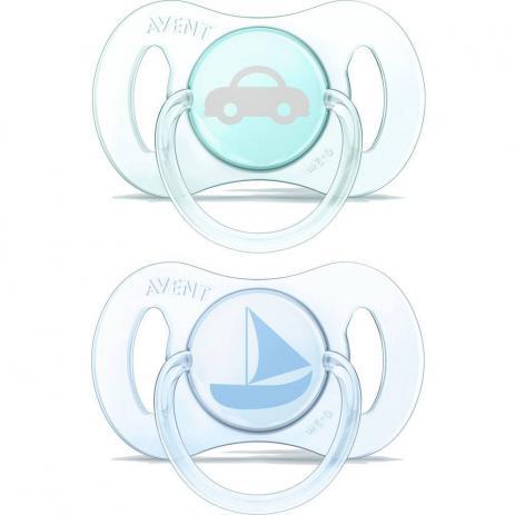 Mini Chupeta Philips Avent - 2 unidades azul e verde 0-2M