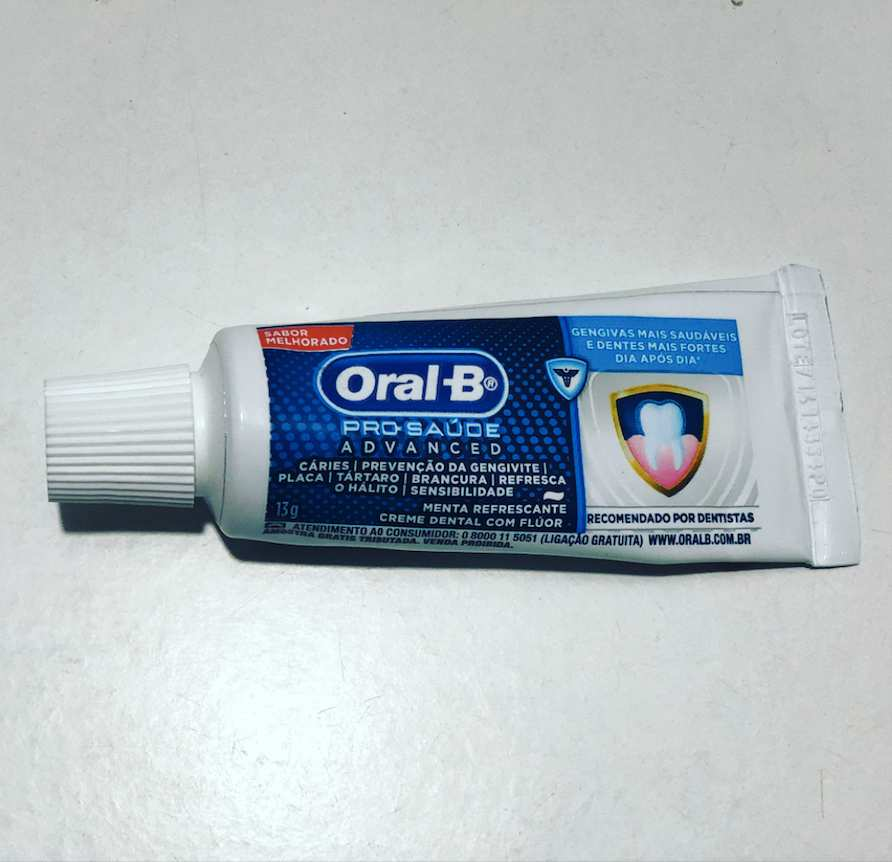 Mini Creme Dental Advanced Viagem Oral-B - 50 unidades