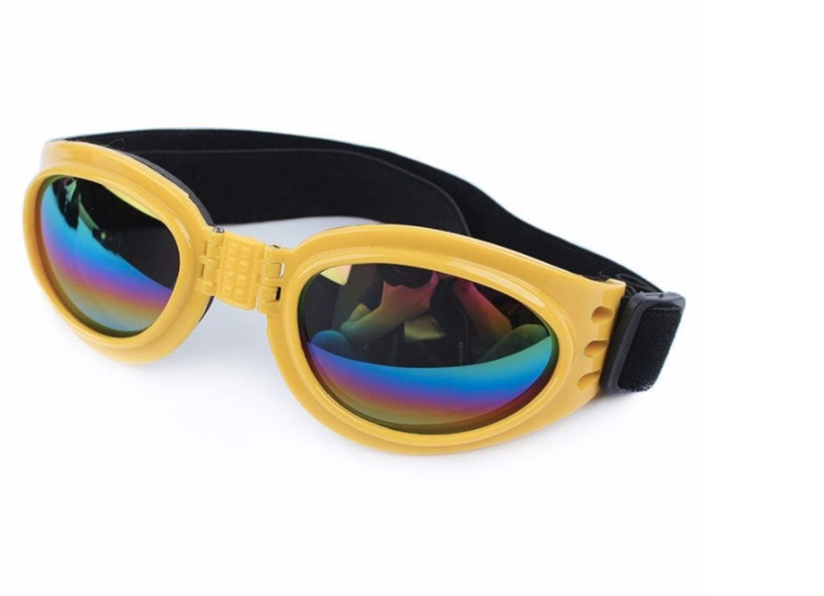Óculos De Sol Para Cães Com Proteção Uv - Cor Amarelo