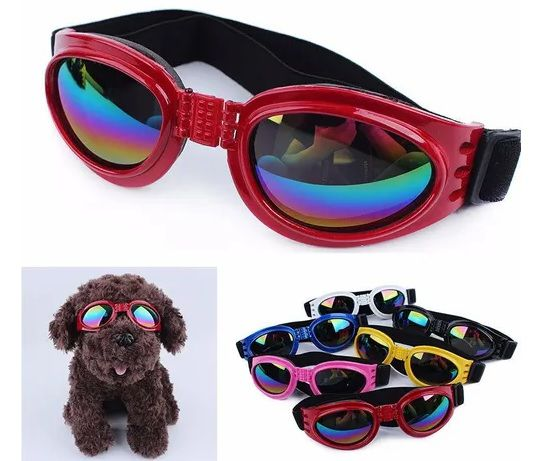 Óculos De Sol Para Cães Com Proteção Uv - Cor Bordô