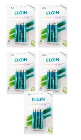 Pilha AA 1,5V Alcalina LR6 Elgin Energy - 10 unidades