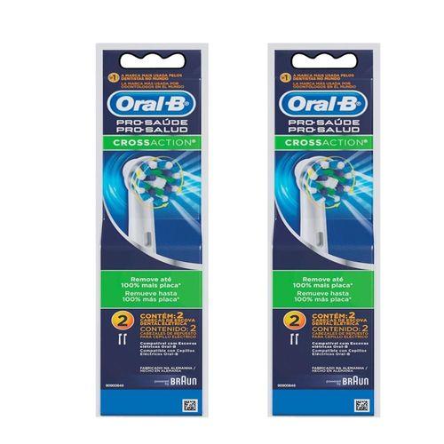 Refil Escova Elétrica Cross Action Oral B - 4 unidades