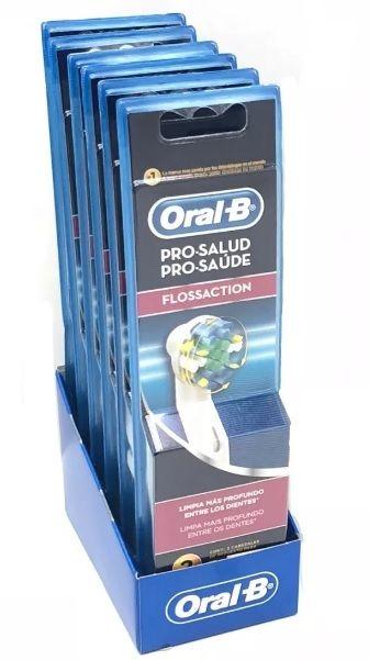Refil Floss Action Para Escova Eletrica Oral B - 12 Unidades