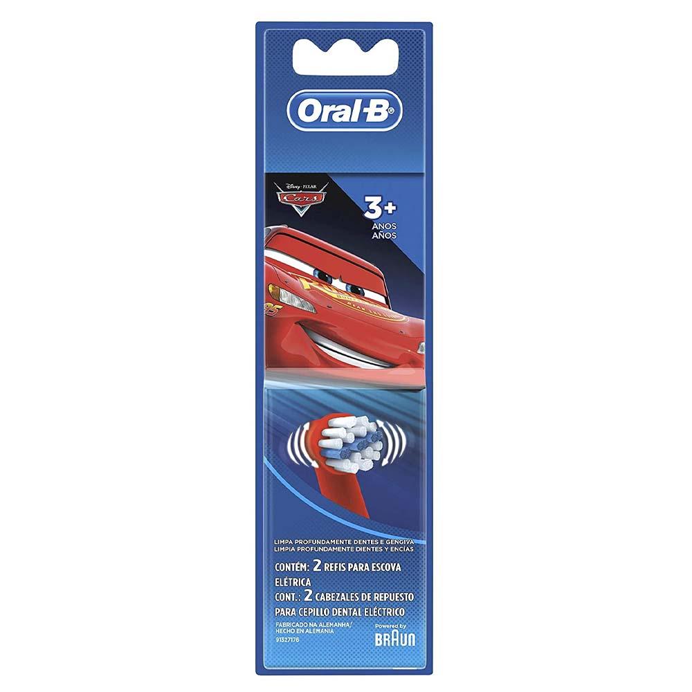 Refil Escova de Dentes Elétrica Infantil Oral-B Disney Pixar Cars 2 - Unidades