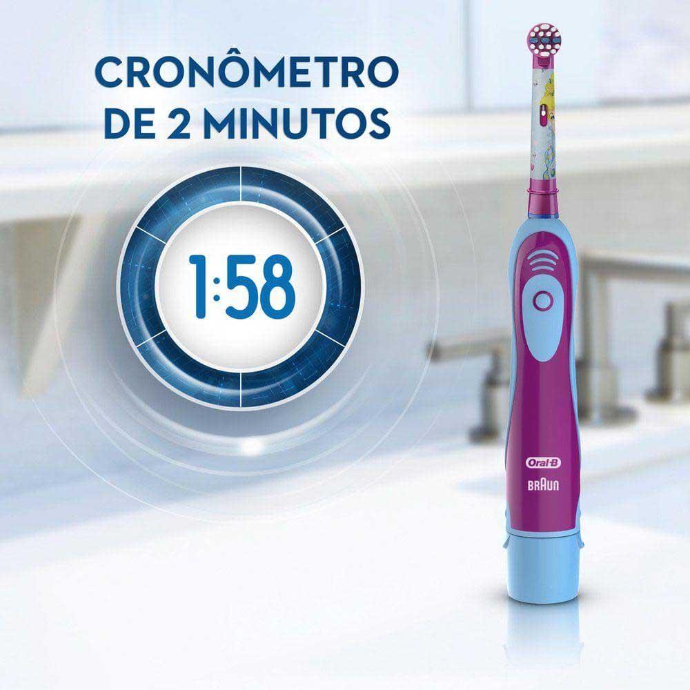 Refil Escova de Dentes Elétrica Infantil Oral-B Disney Princess - 2 Unidades