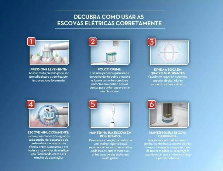 Refil Precision Clean Escova Elétrica 500 5000 Oral-B - 4 unidades