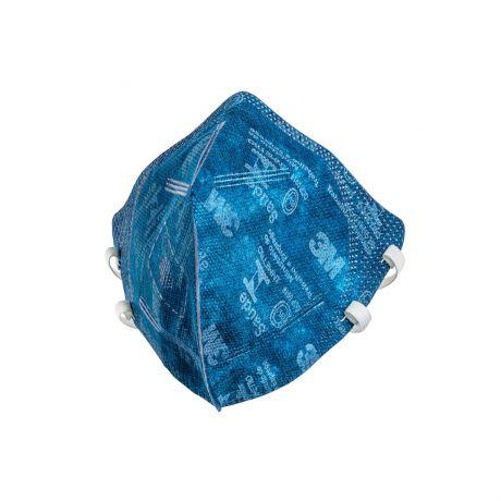 Máscara Respirador 9820 BR Dobrável PFF2 Sem Válvula Azul - 3M