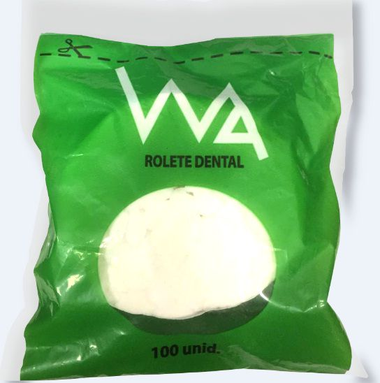 Rolete Dental WA Branco - 100 unidades