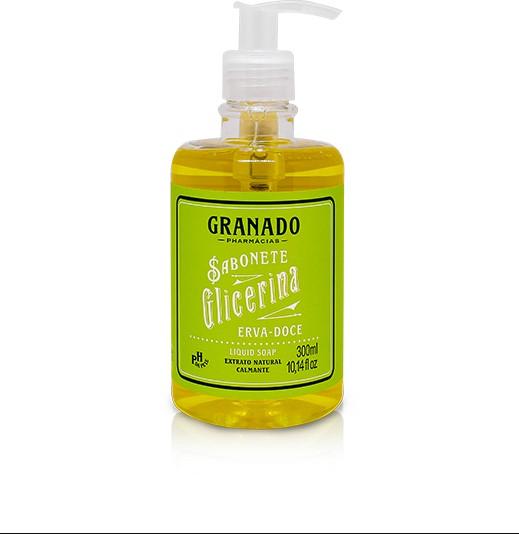 Sabonete Liquido Granado Glicerina Erva Doce - 300ml
