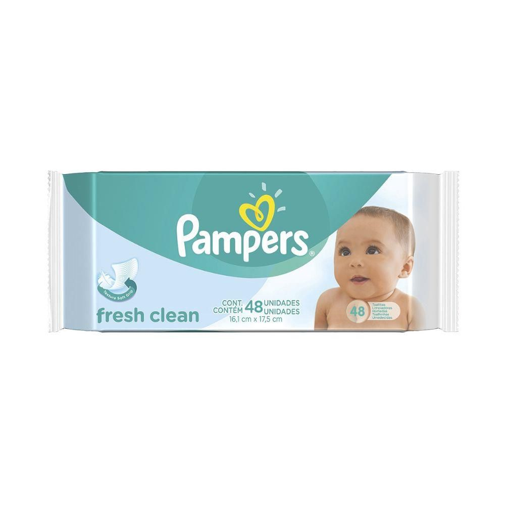 Toalhinhas Umedecidas Fresh Clean Pampers - 48 toalhinhas